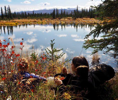 Stempede Trail hikers break